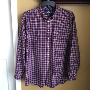 Stafford wrinkle-free travel button down shirt